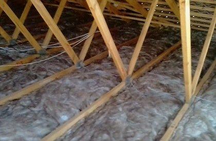 glassfibre ceiling insulation